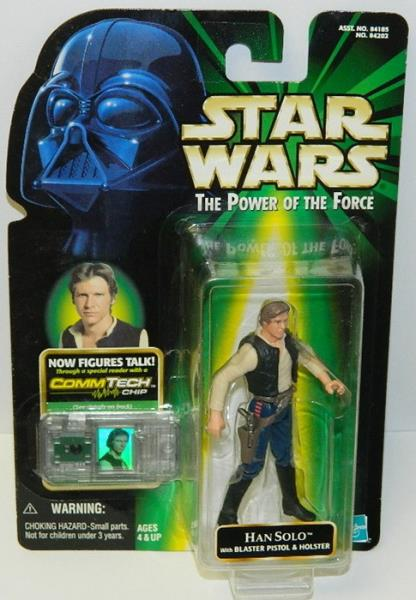 Star Wars Power of The Force Han Solo CommTech Action Figure
