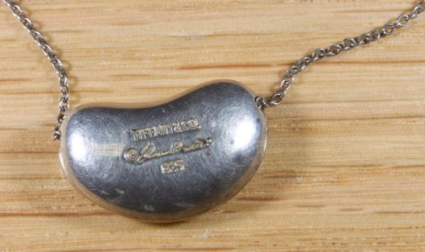 09ca937123df Details about Tiffany and Co Elsa Peretti Sterling Silver Bean Necklace 2027