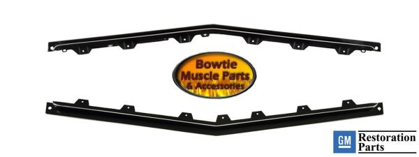 Sold as a Pair 68 Camaro RS Headlamp Door Covers with Chrome Edges