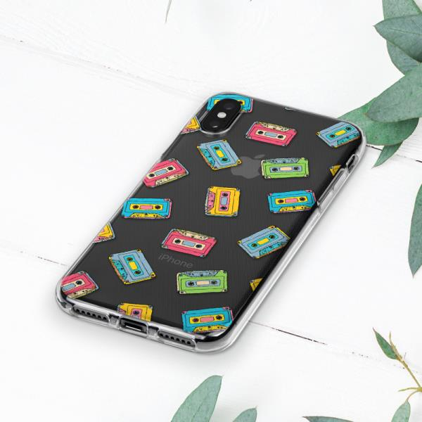 new products a2b54 f983b Details about Vintage Retro 90s Audio Cassette Case Cover For iPhone 6s 7 8  Plus Xs Max XR