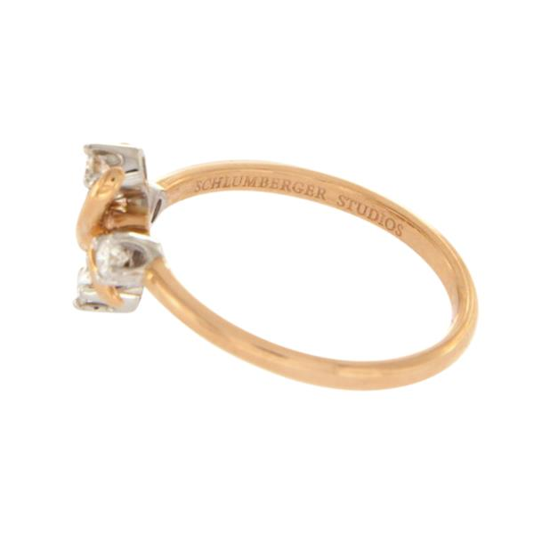 Luxo Jewelry News Letter - Premium Jewelry - Au Tiffany & Co. Schlumberger Studios Diamonds Platinum & Gold X Ring 7.5 $2450