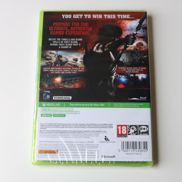 Details about RAMBO THE VIDEO GAME - MICROSOFT XBOX 360 GAME - NEW & SEALED