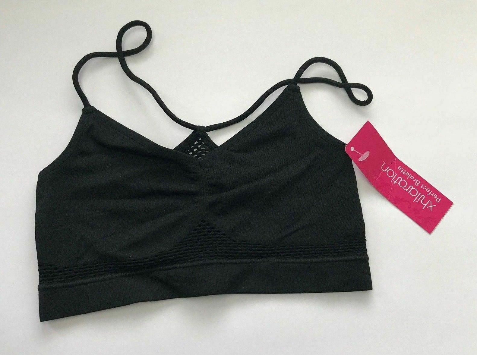 b015ad230a8 Details about Xhilaration Juniors Black Perfect Bralette Size XS NEW