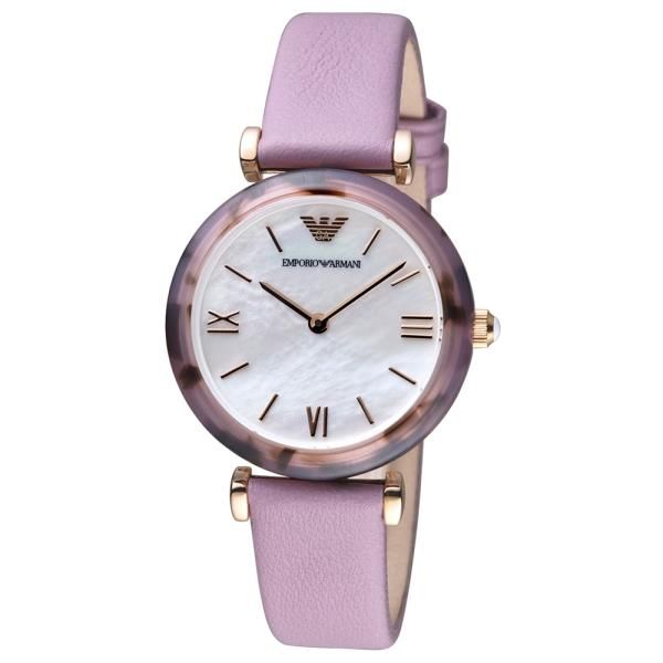 Details Women's Emporio Armani Strap Watch Analog 32mm Purple New About In Leather Box Ar11003 0nwOk8P