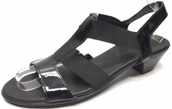 Women's Shoes Munro American 9164 M466484 Strappy Open Toe Sandals Black Size 9M