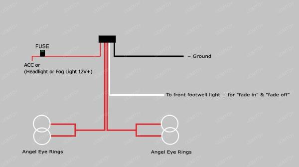 angel eye halo rings led ccfl relay harness w fade in fade outfor ccfl angel eyes, you will also need ccfl converters separately