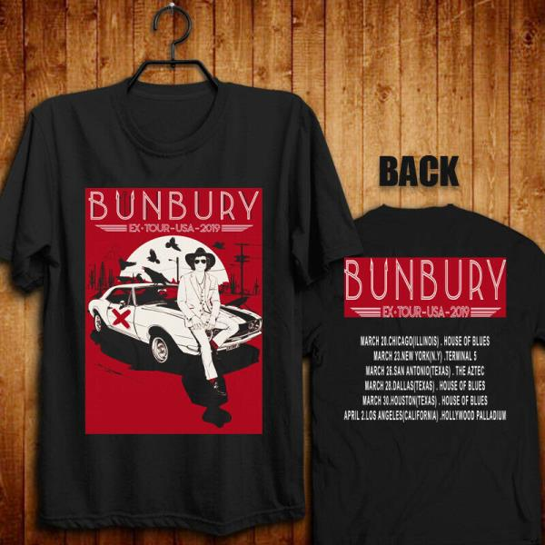 Details about New Limited BUNBURY EX TOUR USA 2019 BLACK T shirt All Size