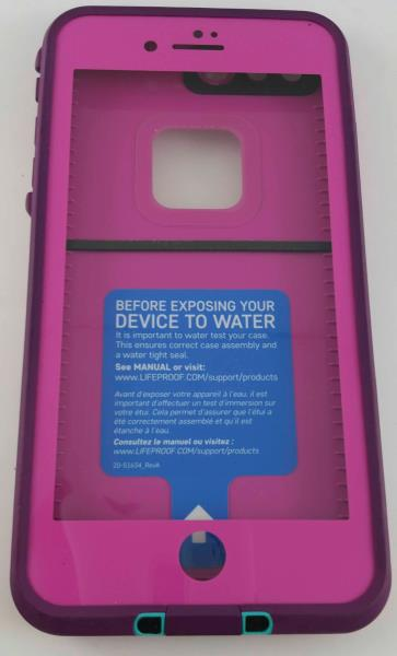 new styles 75db2 bcad7 Details about iPhone 7+ Plus Authentic LifeProof Fre Series Waterproof Case  * TWILIGHT'S PINK