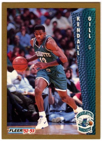 best authentic 27501 c7d53 Details about Kendall Gill #24 Charlotte Hornets Fleer Basketball Card  (C508)