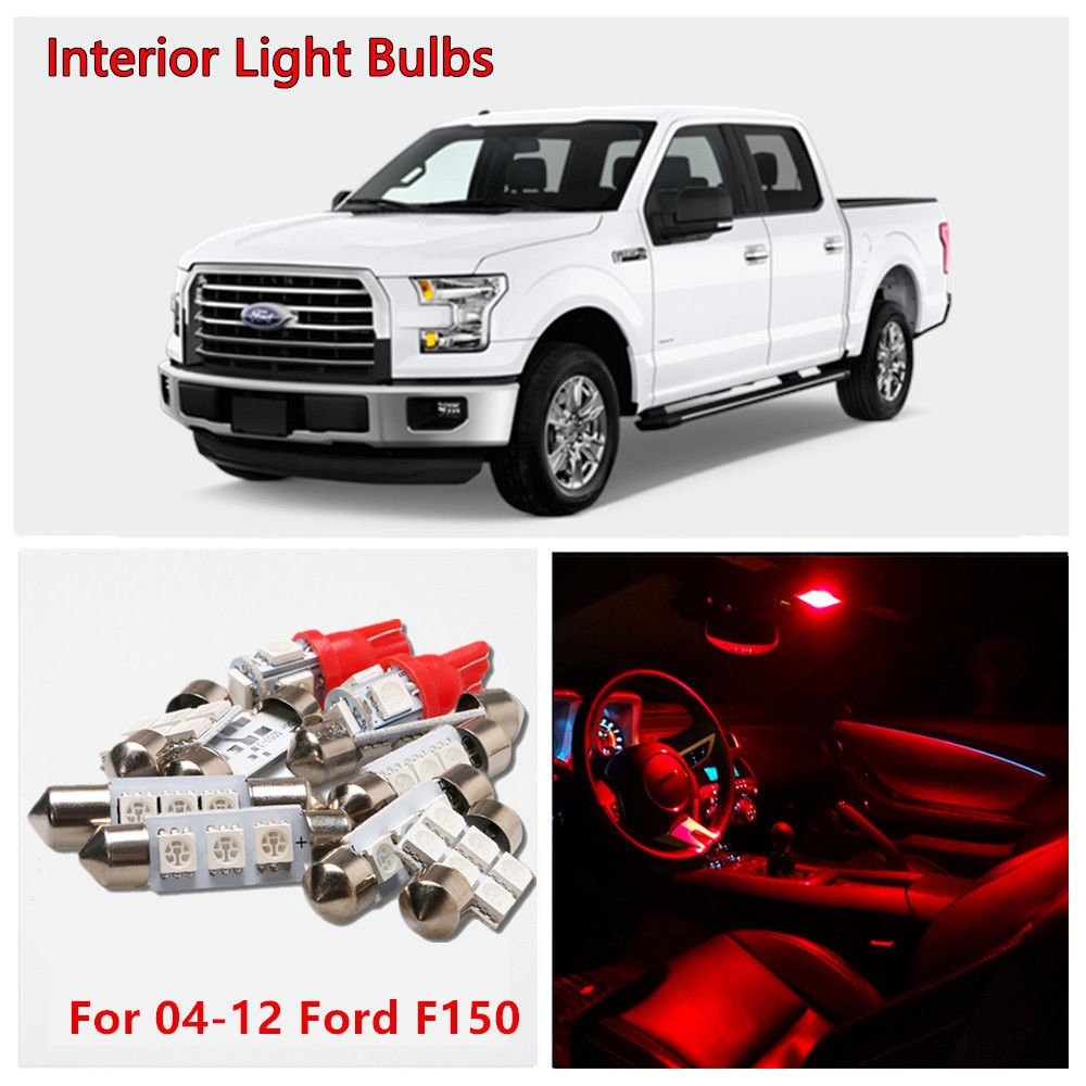 5pcs Red Led Interior Light Map Dome License Plate Bulbs Kit For 04 1941 Ford Pickup Truck 12 F150