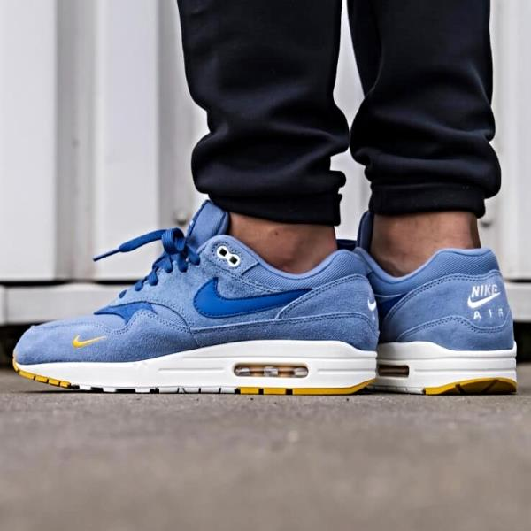 Details about Nike Air Max 1 Premium Sneakers Work Blue Size 8 9 10 11 12 Mens Shoes New