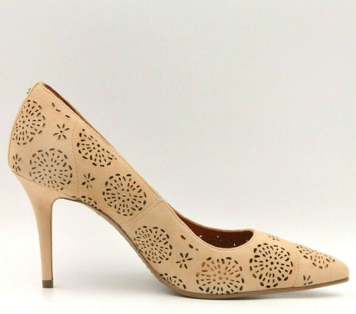 da877c9c8fc Details about COACH Waverly 85MM Women Stiletto Heel Pump Size US 6B  Beechwood Brown Suede