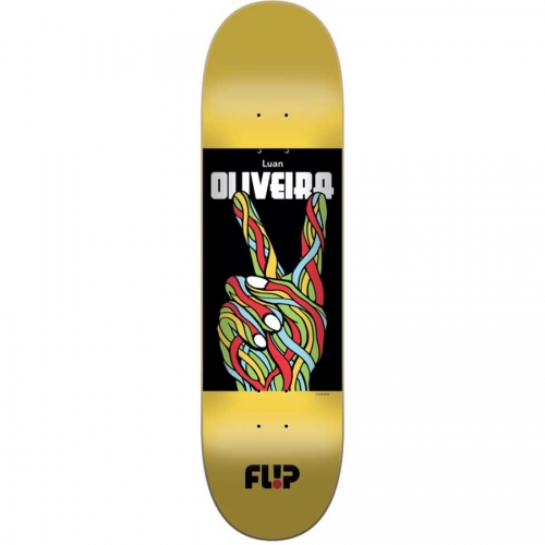 FLiP Skateboard Deck Luan Oliveira 8.125 peace rrp 119 Free Grip and Post