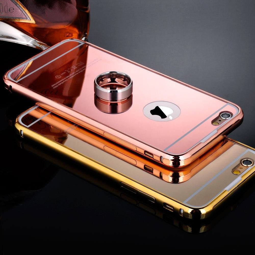 buy popular 6fde5 8a8db Details about Luxury Ultra-thin Mirror Case Aluminum Metal Cover For Apple  iPhone 6 6S 7 Plus