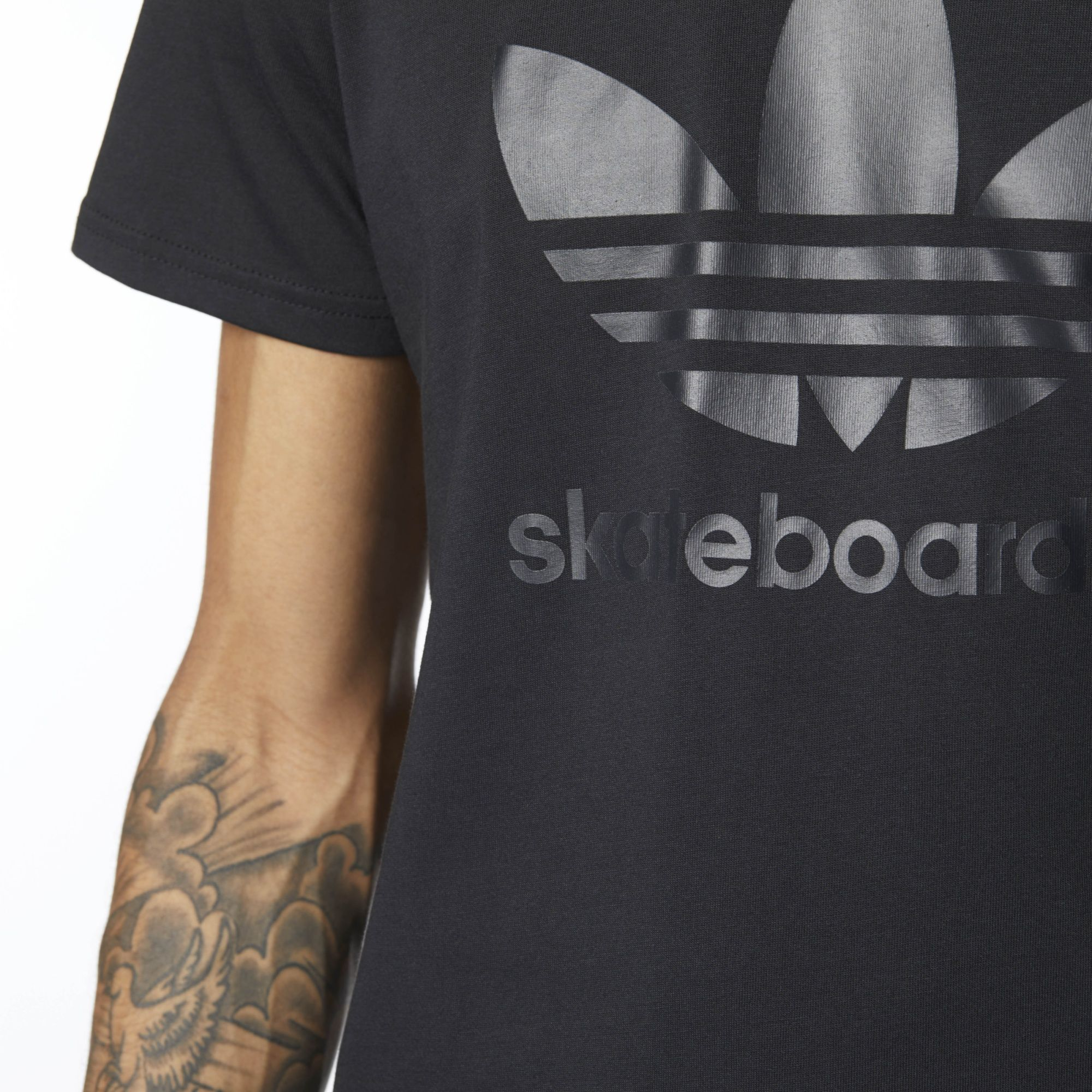 Adidas Originals Tee Trefoil 3.0 Climalite Black FREE POST New Mens Skateboarding T-Shirt