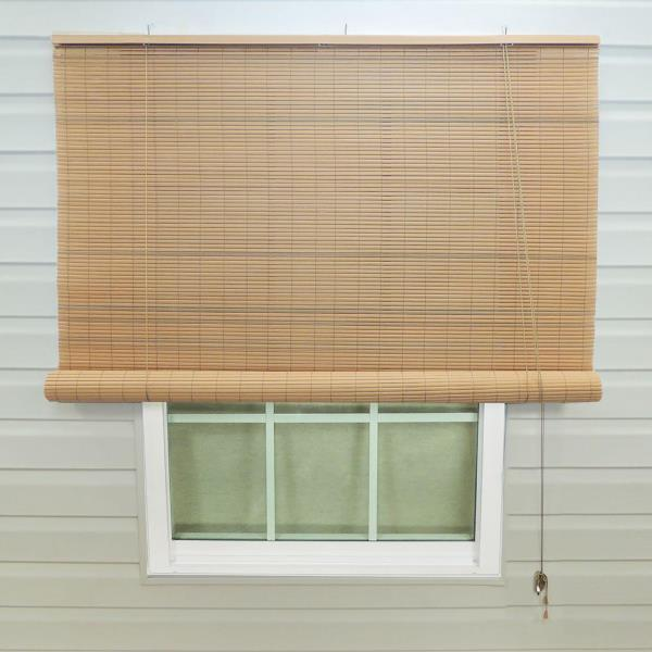 EXTERIOR ROLL UP WINDOW BLINDS 36 x 72 Patio Roll Up Sun Shade Tan ...
