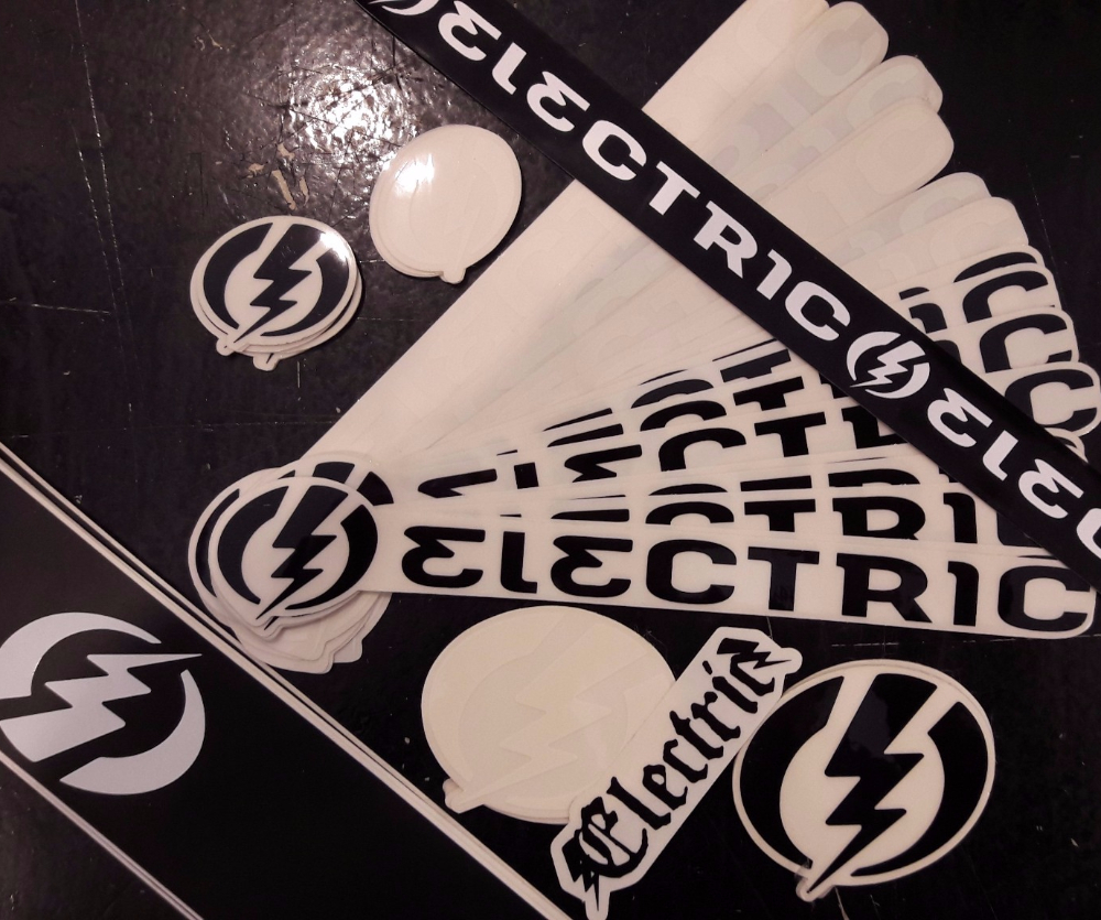Electric Sunglasses Stickers 5 Pack Assorted FREE POST Skate decal