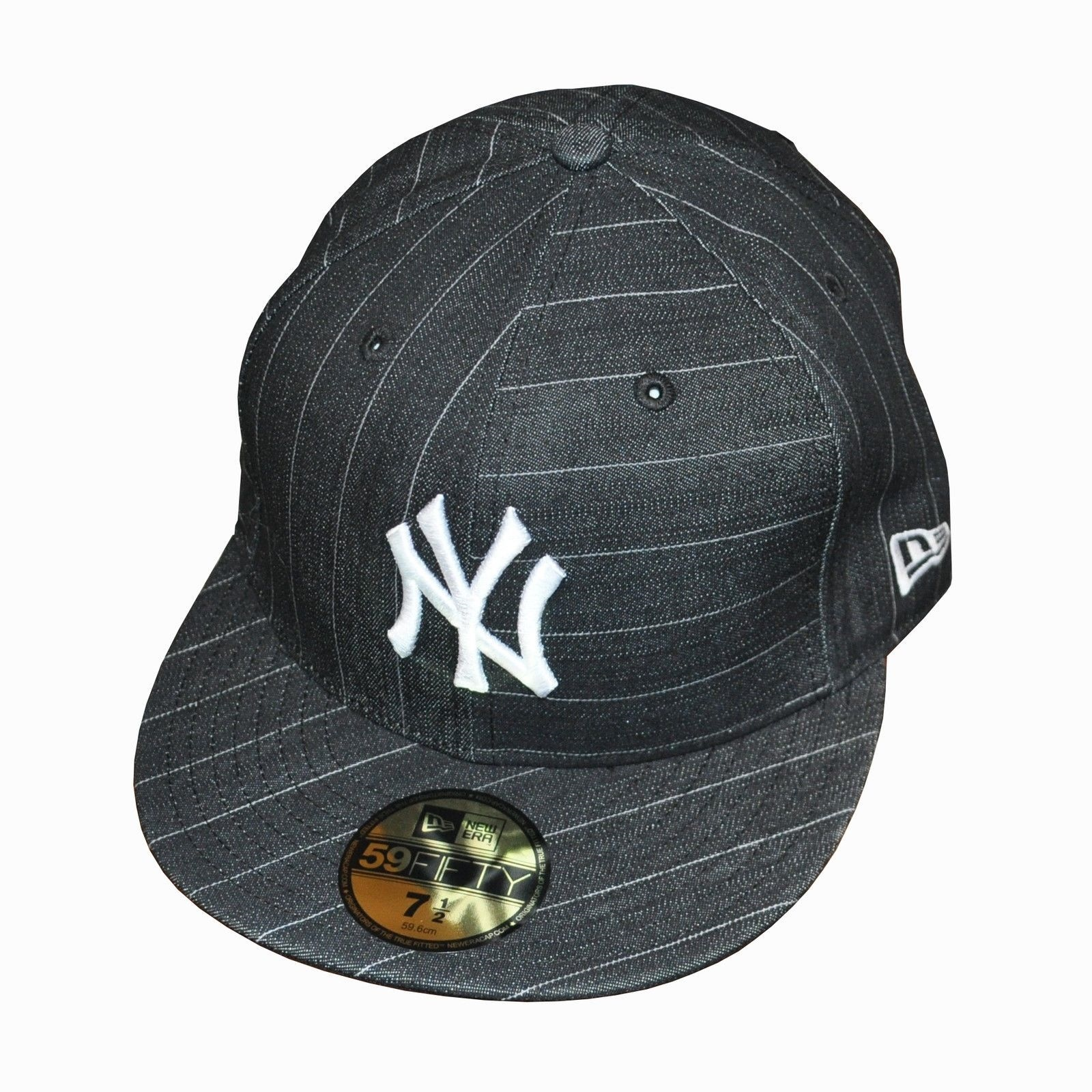 e36ac349b2a Details about New Era 59Fifty NY New York  Pro Tailor  Flat Peak Baseball  Cap 7 1 2