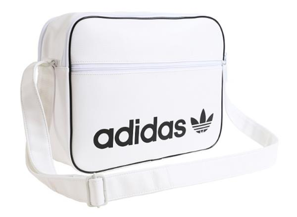 93e8bd6a3272 Adidas Airline Vintage Duffle Bags White Running Casual GYM Bag ...