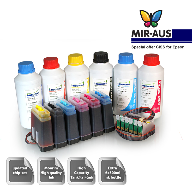 Ciss Ink System For Epson Artisan 725 835 Tx710 1410 1430