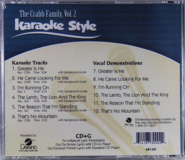 Musical Instruments & Gear Jason Crabb Volume 2 Christian Karaoke Style New Cd+g Daywind 6 Songs Cheap Sales Karaoke Entertainment