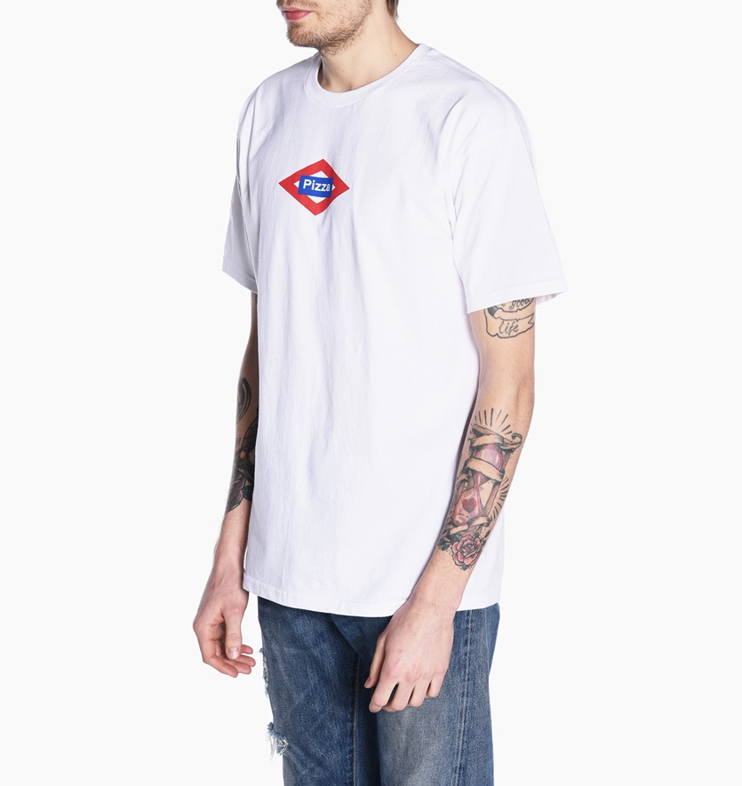 Pizza Skateboards Tee Sol White Size T-Shirt FREE POST