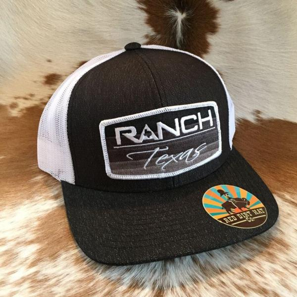 Details about Red Dirt Hat Co  Ranch Texas Heather Black White Trucker  Snapback Cap RDHC39