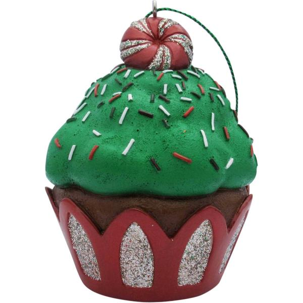 Green Peppermint Top Cupcake Christmas Tree Ornament Ebay