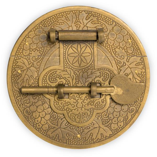 """CBH Traditional Chinese Fancy Brass Hardware Door Box Chest Cabinet Lock 4.5/"""""""