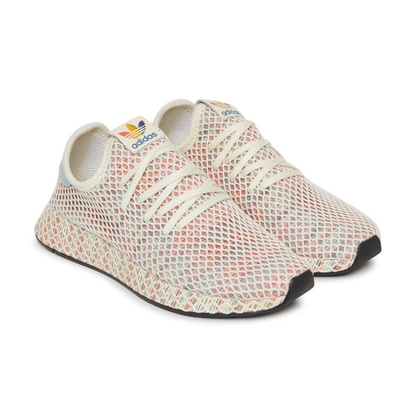 2a683ee24 Adidas Deerupt Pride Sneakers Cream White Size 8 9 10 11 12 Mens NMD Boost  New. 100% AUTHENTIC OR MONEY BACK GUARANTEED
