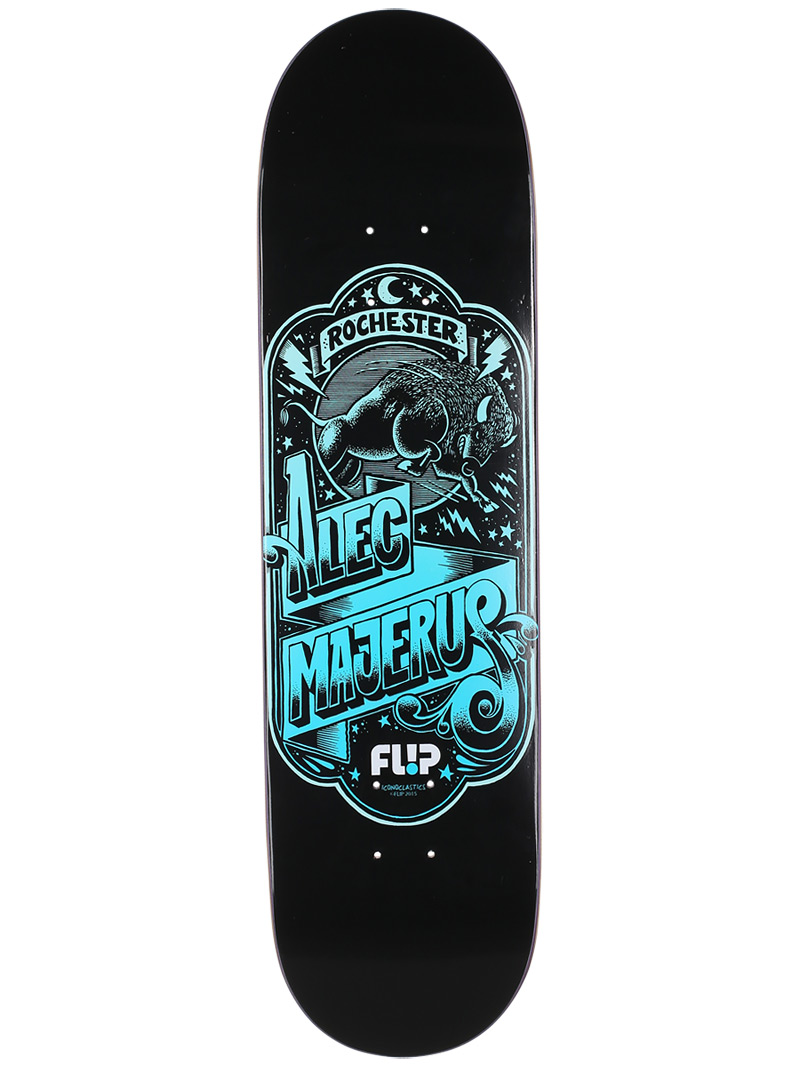 FLiP Skateboard Deck Alec Majerus 8.25 Iconoclastics Free Grip and Post