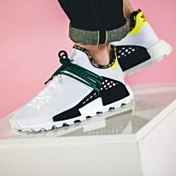 8770d4f36 Adidas Pharrell Williams Nmd Solar hu Human Race White Size 7-12 Mens New  EE7583