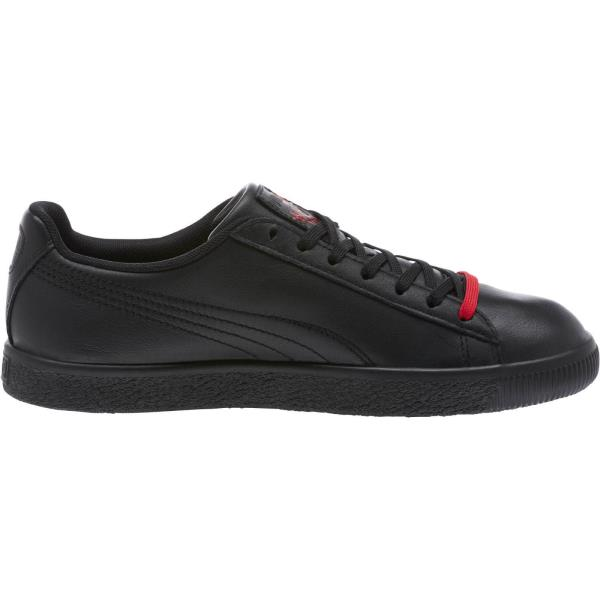 e6114514450  366207-01  Mens Puma Clyde Signature - Black Red Casual Sneaker. Style   366207-01