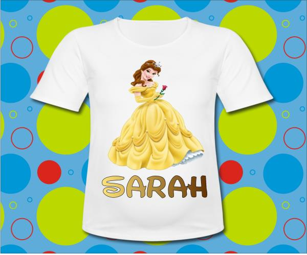 Personalized Princess Belle T Shirt All Sizes Beauty Beast Birthday