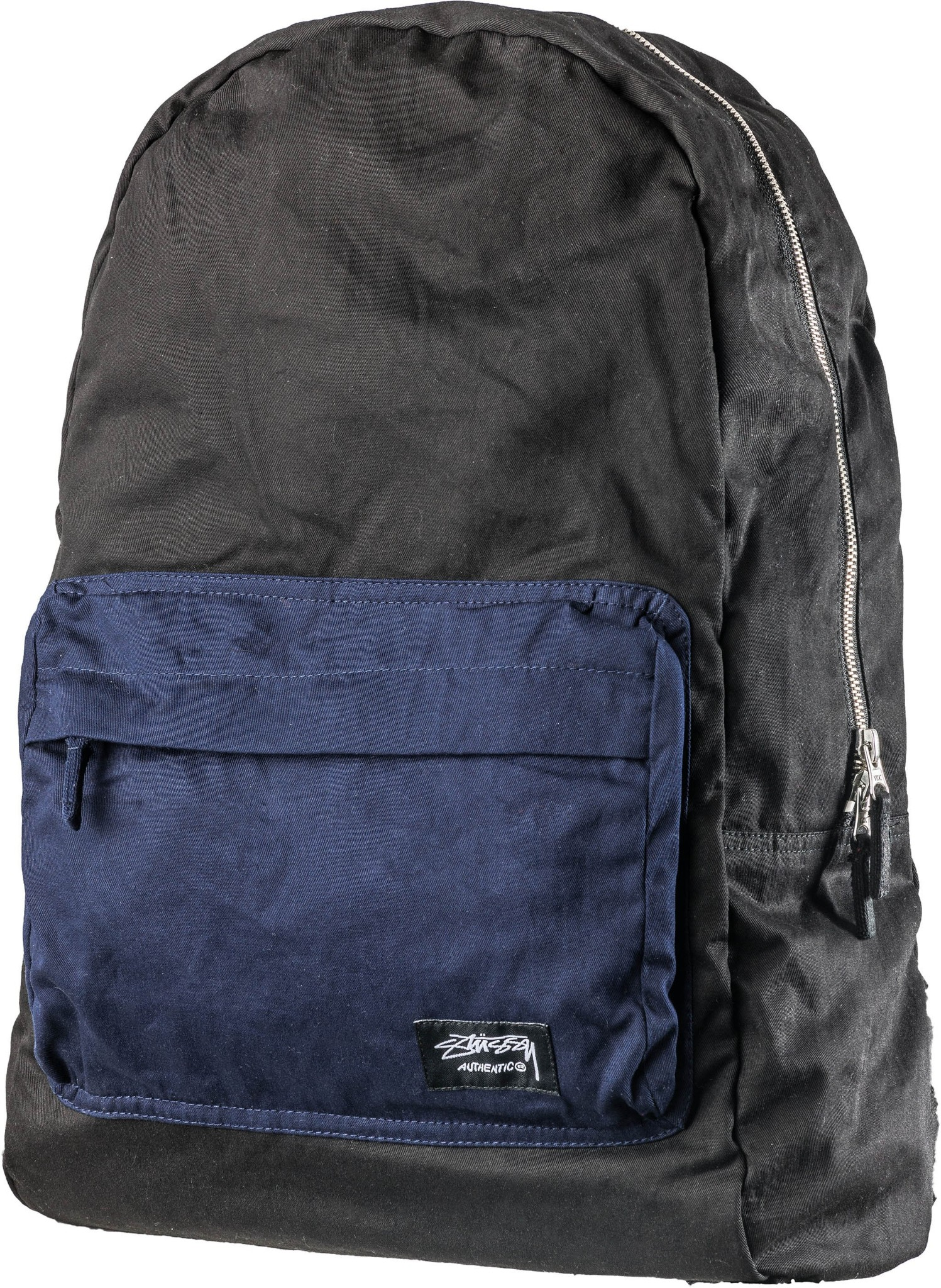 Stussy Backpack Contrast Black Navy Basic Beachpack FREE POST Skate School Bag