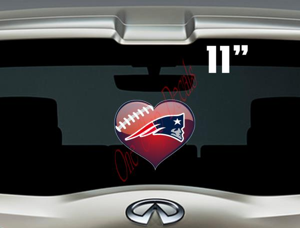 Details about Patriots Heart (Love) vinyl car decal/sticker  Outdoor rated  for up to 7yrs
