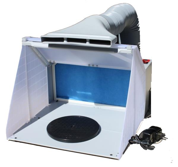 Portable Hobby Art Airbrush Paint Spray Booth Kit W
