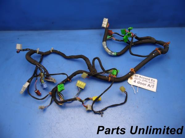 details about 90 91 accord oem dash gauge cluster wiring harness loom ex a t 32117 sm4 a512