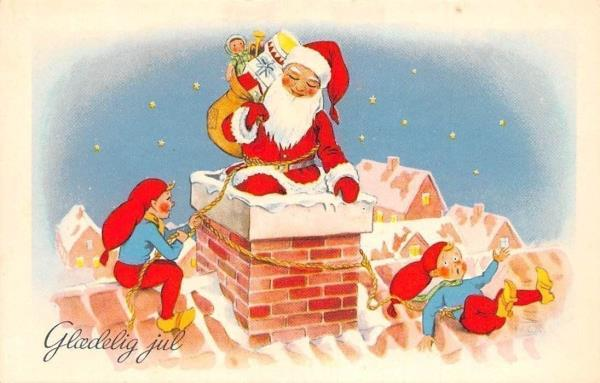 3f664731 Gledelig jul! Merry Christmas! Santa Claus Chimney Gifts Presents ...