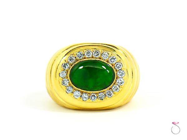ring emerald jade and diamond by sabba a