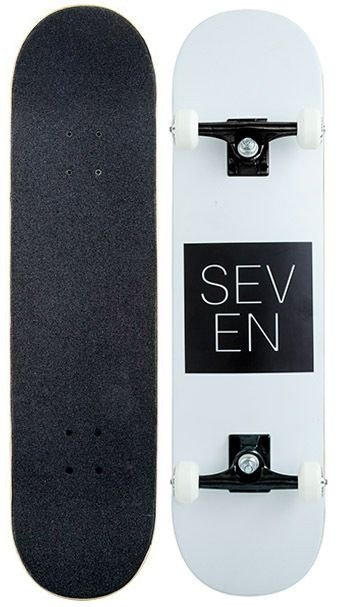 Seven Complete Skateboard Black Box Logo 7.8 FREE POST New By Z-Flex Zflex