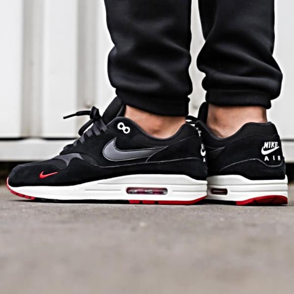 d83e73add3ab Nike Air Max 1 Premium Sneakers Oil Grey Black Size 8 9 10 11 12 Mens Shoes  New