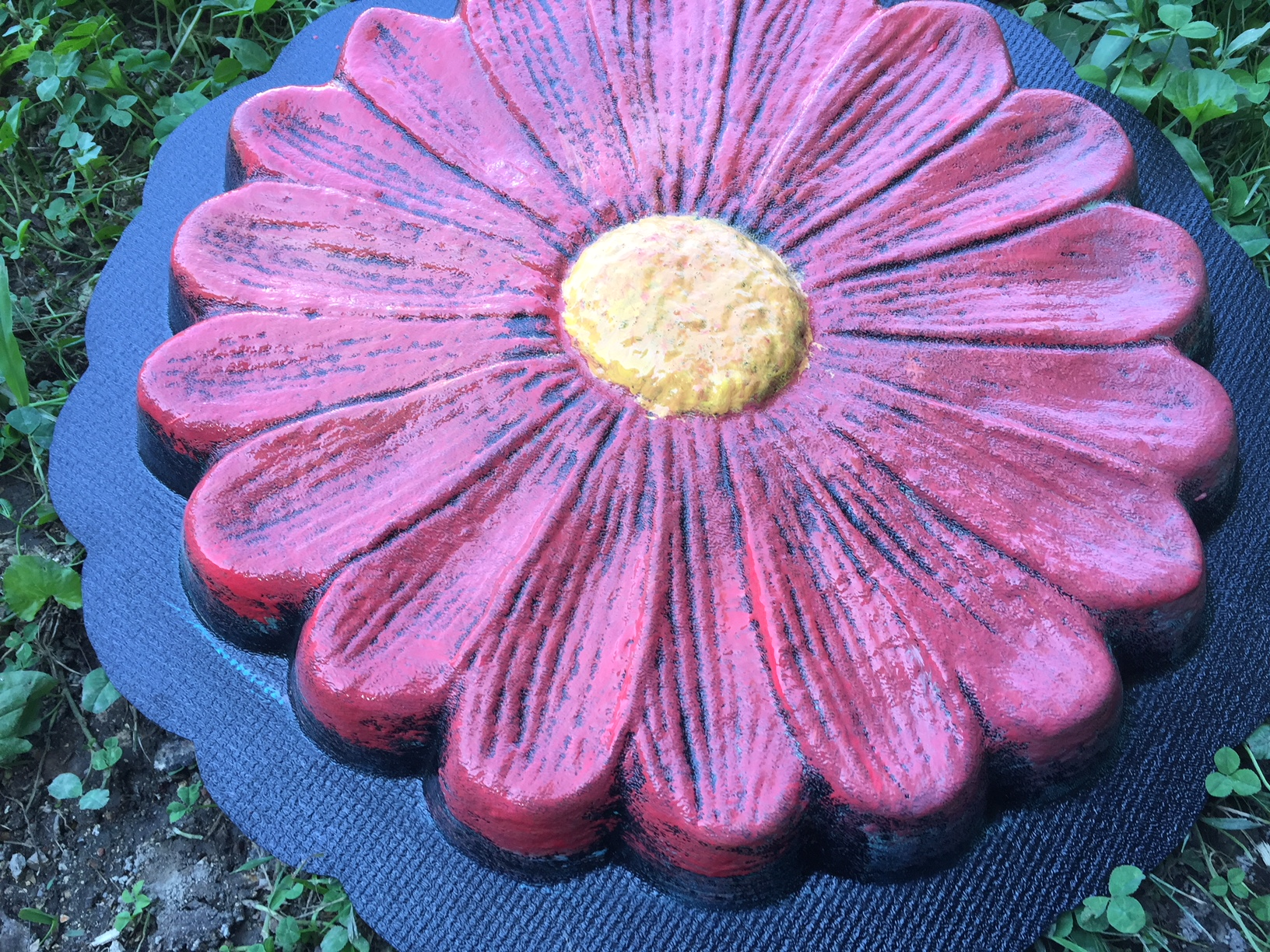 Large 15 Textured Daisy Flower Stepping Stone Concrete Mold Cement