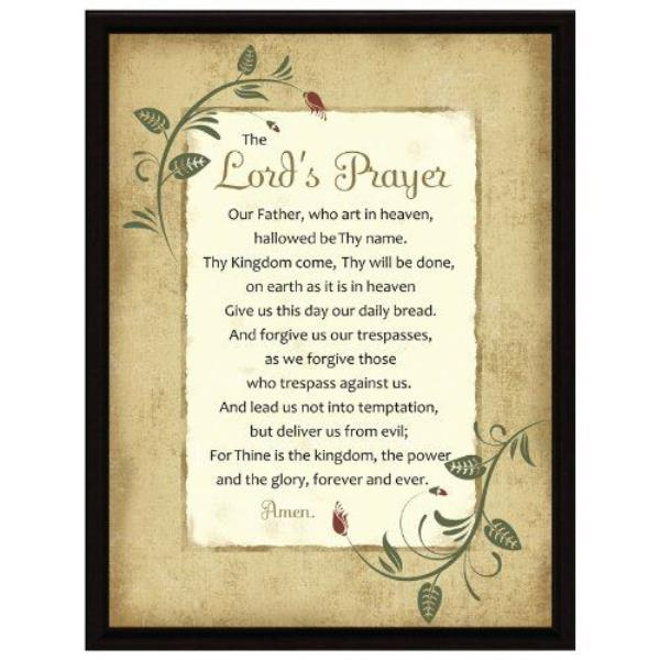 Details about NEW Dexsa Lord's Prayer Wood Frame Plaque with Easel DX8524