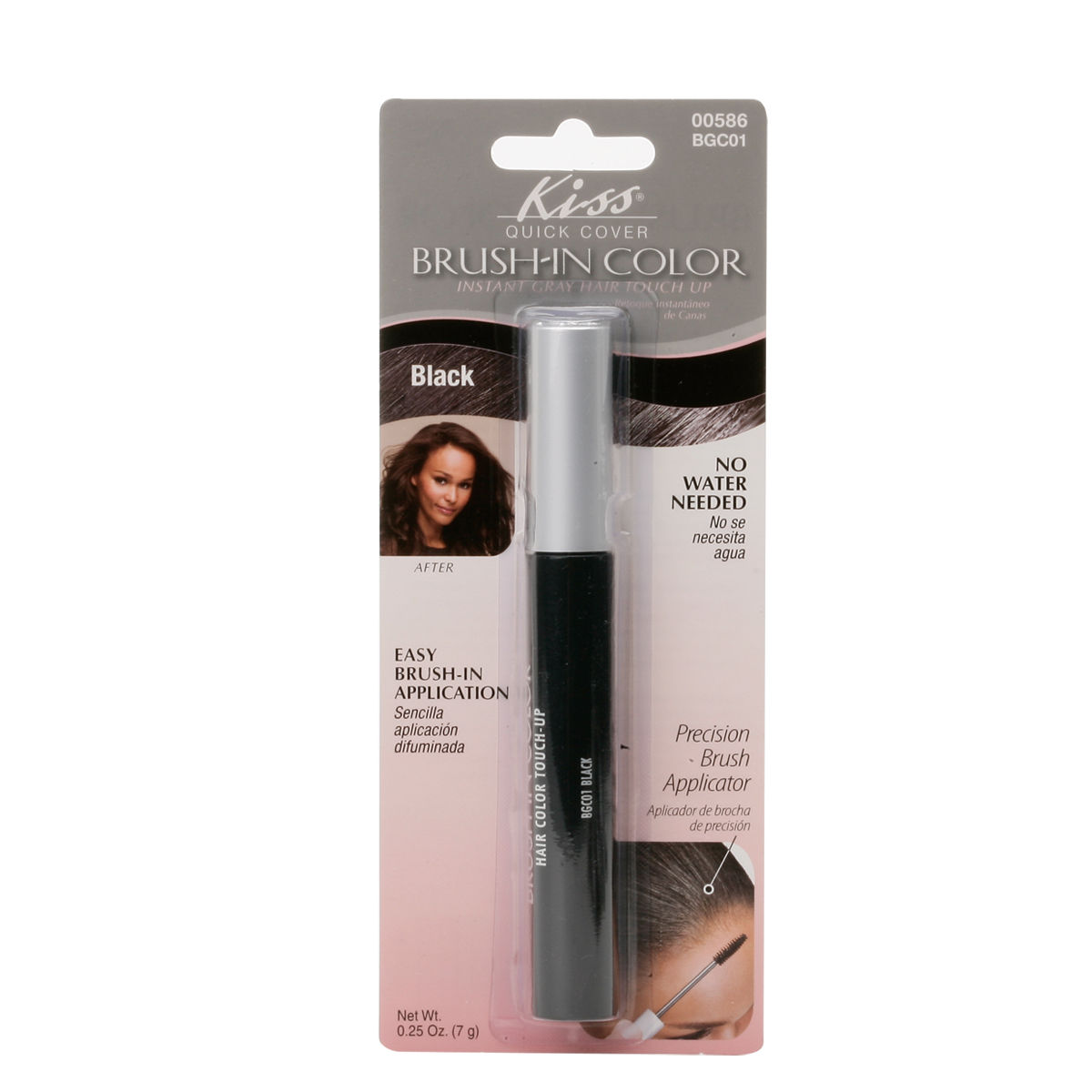 Kiss Quick Cover Gray Hair Touch Up Brush In Color Hair Mascara Bgc