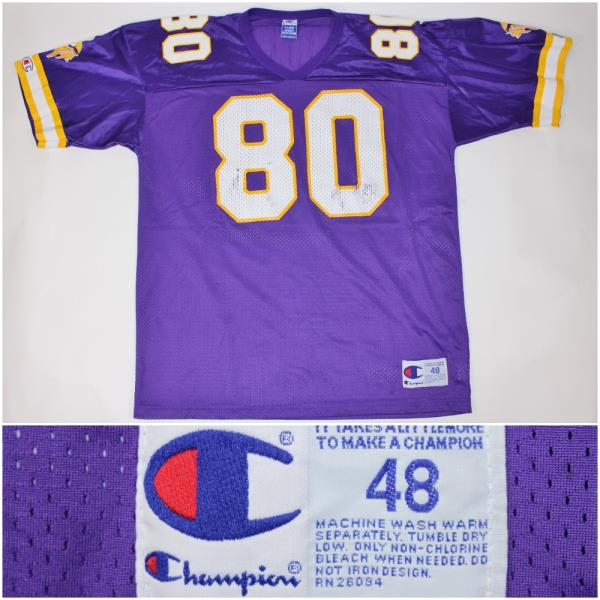 new arrival 3d07f bdc2a Cris Chris Carter Minnesota Viking Champion Brand 48 XL NFL ...