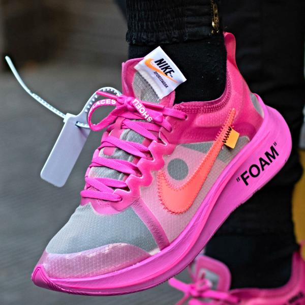 nike zoom off white pink