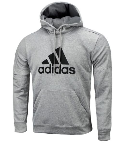 Adidas Men Team Issue Pullover Shirts L/S Gray Sweater Jersey Hood ...