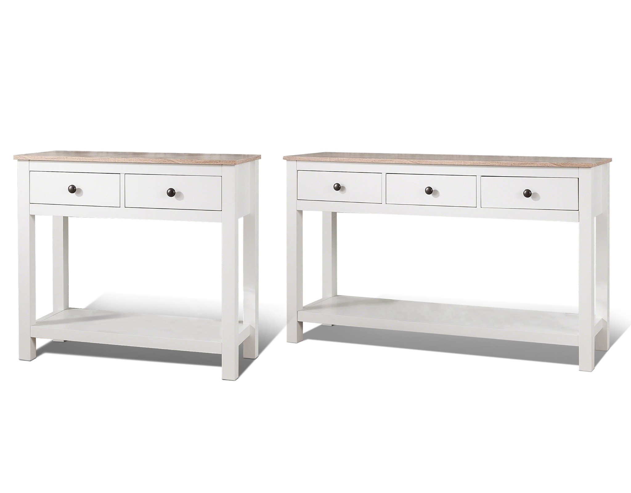 Admirable Details About Laura James White Console Table With 2 3 Drawers And Shelf Interior Design Ideas Oxytryabchikinfo