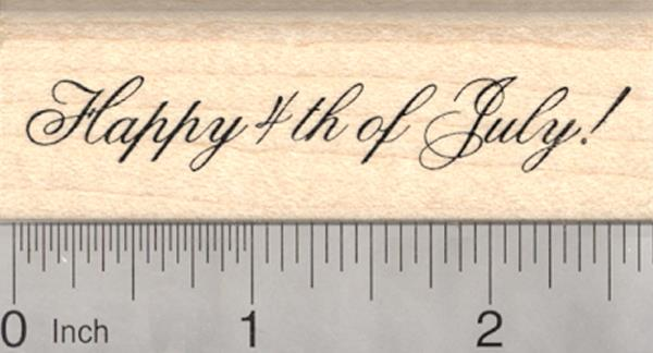 Happy 4th of July Rubber Stamp American Independence Day E24707 WM